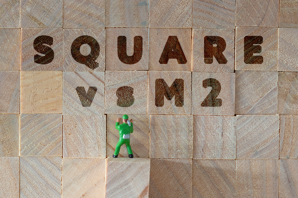 square metres vs sqares