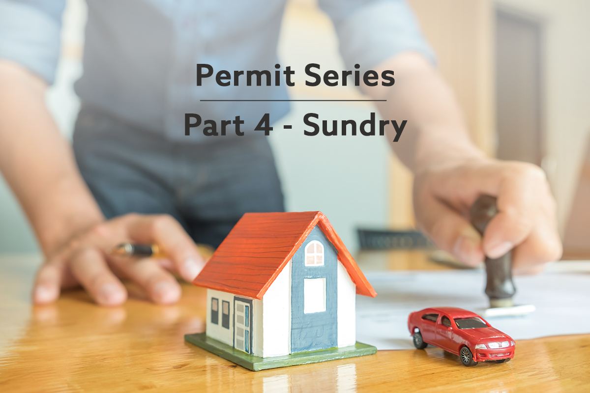 sundry permits for a new home